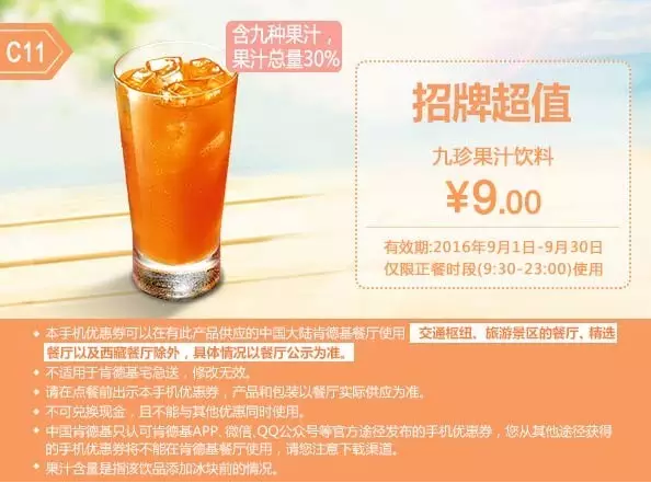 C11九珍果汁饮料