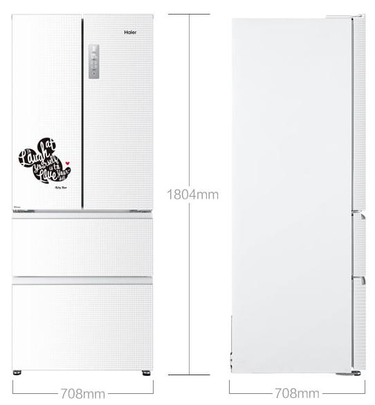 海尔(haier)bcd-403wdma(dz)403升风冷无霜 多门冰箱,迪士尼定制